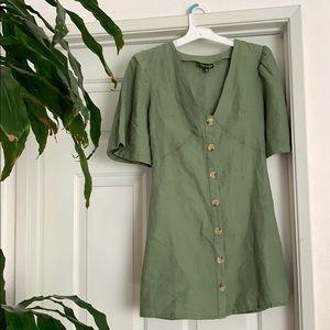 Topshop green mini dress